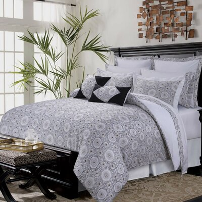 12 Piece Comforter Set Size: Queen, Color: Black/Gray