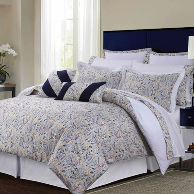 12 Piece Comforter Set Size: Full, Color: Blue/Yellow