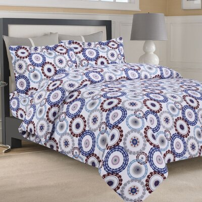Flannel 3 Piece Duvet Set Size: Queen