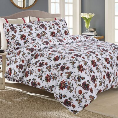 Flannel 3 Piece Duvet Set Size: King