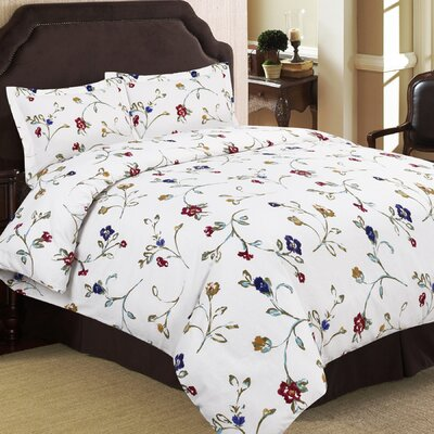 100% Cotton 3 Piece Duvet Set Size: Queen