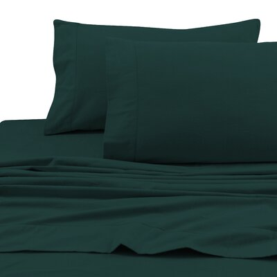 Flannel Solid Extra Deep Pocket Sheet Set Size: Twin Extra Long, Color: Teal