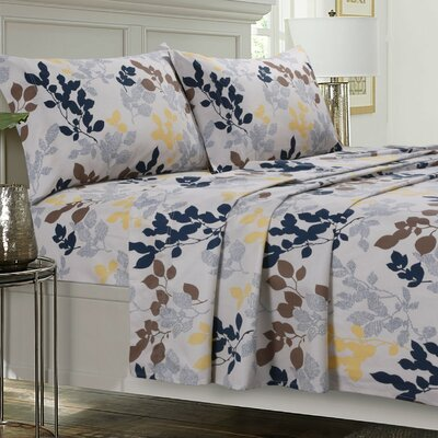 Barcelona 300 Thread Count Egyptian Quality Cotton Sheet Set Size: Queen