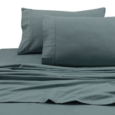 Flannel Solid Extra Deep Pocket Sheet Set Size: Twin, Color: Aqua