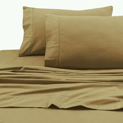 Flannel Solid Extra Deep Pocket Sheet Set Size: King, Color: Cappuccino