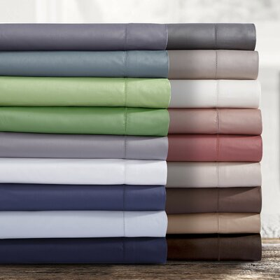 750 Thread Count Egyptian Quality Cotton Extra Deep Pocket Sheet Set Size: King, Color: Dusty Blue