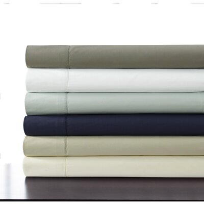 500 Thread Count 100% Cotton Percale Extra Deep Pocket Sheet Set Size: King, Color: Gray