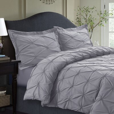 Sydney Duvet Set Size: King, Color: Silver