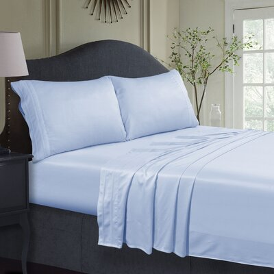 300 Thread Count Extra Deep Pocket Sheet Set Size: Twin, Color: Blue