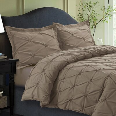 Sydney Duvet Set Size: King, Color: Taupe