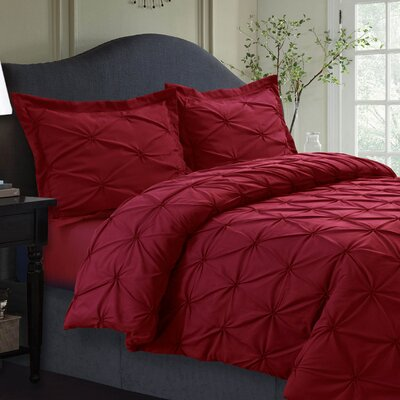Sydney Duvet Set Size: Twin, Color: Deep Red