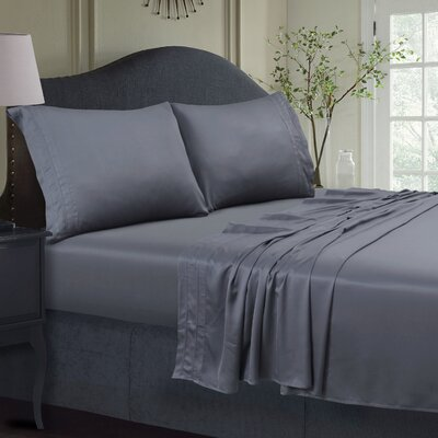 300 Thread Count Extra Deep Pocket Sheet Set Color: Steel Gray, Size: Queen