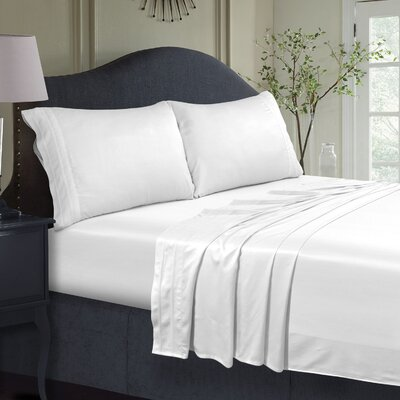300 Thread Count Extra Deep Pocket Sheet Set Size: Twin, Color: White