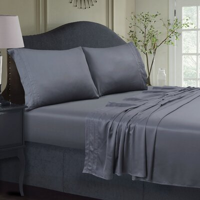 300 Thread Count Extra Deep Pocket Sheet Set Color: Sage Gray, Size: Full