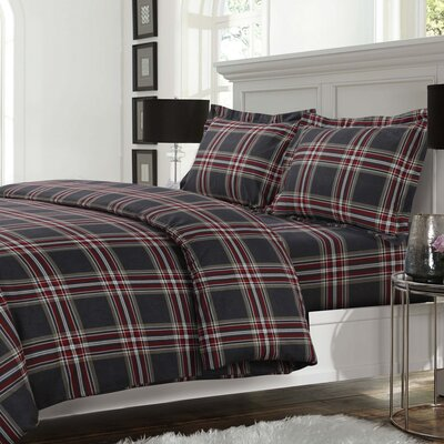 Heritage 3 Piece Reversible Duvet Cover Set Size: King