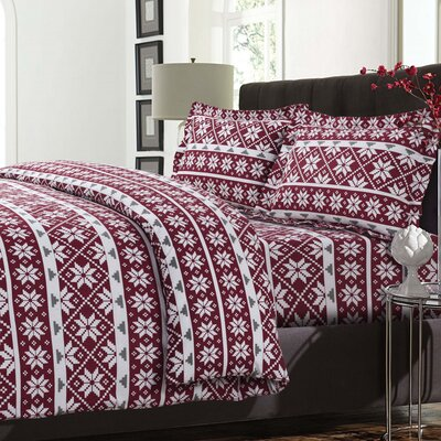 Oslo 3 Piece Reversible Duvet Cover Set Size: Queen