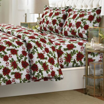 Christmas Joy 3 Piece Reversible Duvet Cover Set Size: Queen