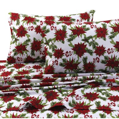 Christmas Joy 100% Cotton Sheet Set Size: Twin XL