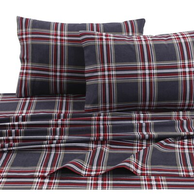 Heritage Plaid 100% Cotton Sheet Set Size: Twin