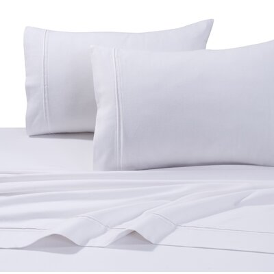 4 Piece Flannel Sheet Set Size: Full, Color: White