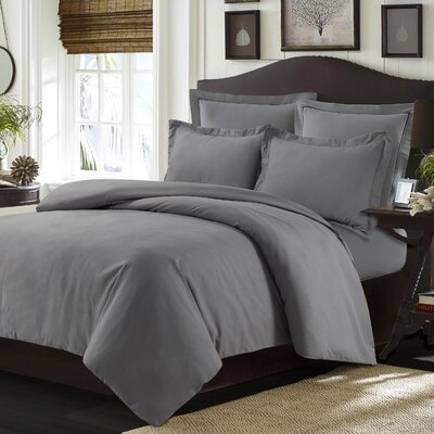 Valencia Duvet Cover Set Color: Gray, Size: Twin
