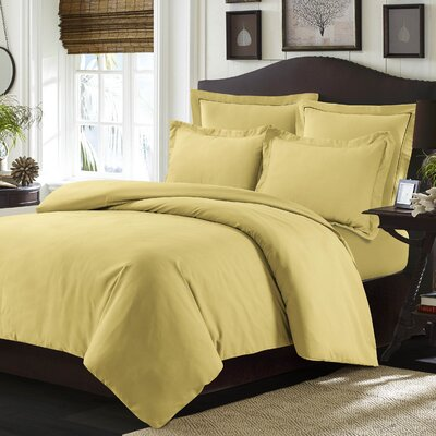 Valencia Duvet Cover Set Color: Gold, Size: King