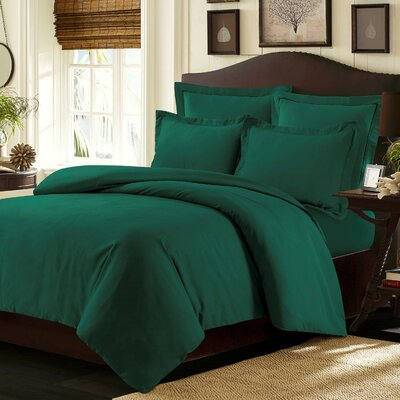 Valencia Duvet Cover Set Color: Teal, Size: Queen