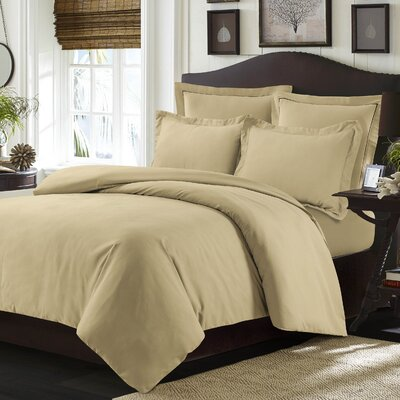 Valencia Duvet Cover Set Color: Cashmere, Size: King