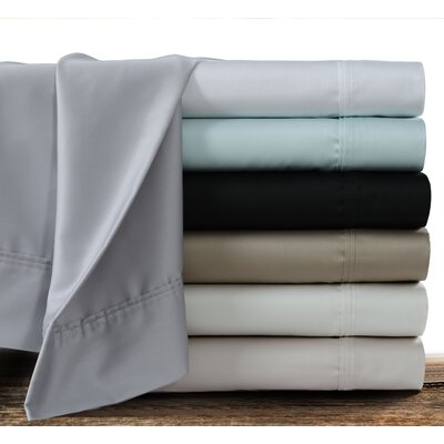Myrtledale 360 Thread Count 100% Cotton Sheet Set Color: Black, Size: Queen