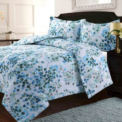 KeeLee Solid or Printed Oversized Quilt Set Size: King