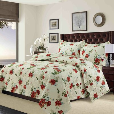 Shaffer Solid or Printed Oversized Quilt Set Size: Queen