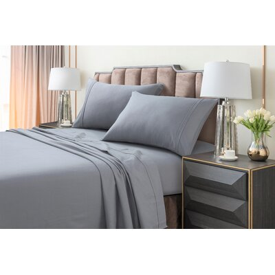Johannsen Extra Deep Pocket Flannel Sheet Set Color: Gray, Size: King