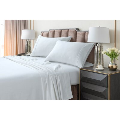 Johannsen Extra Deep Pocket Flannel Sheet Set Color: White, Size: Queen