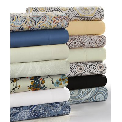 Parkwood Deep Pocket 300 Thread Count 100% Cotton Sheet Set Size: Full/Double, Color: Linen
