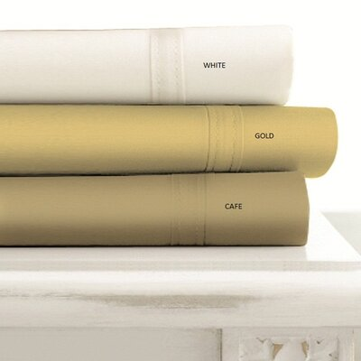 500 Thread Count 4-Piece Egyptian Quality Cotton Ivory Sheet Set Size: California King