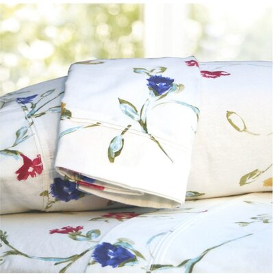 Tribeca Living Floral Garden Printed Extra Deep Pocket Flannel Sheet Set - Size: Queen at Sears.com