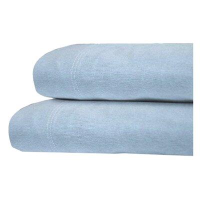 Tribeca Living Luxury Solid Cotton Deep Pocket Flannel Sheet Set - Size: Queen, Color: Sky Blue