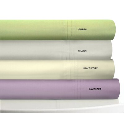 Tribeca Living 350 Thread Count Egyptian Cotton Percale Sheet Set - Size: Twin, Color: Purple