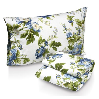 Tribeca Living Floral Bouquet Printed Sheet Set - Size: Queen at Sears.com