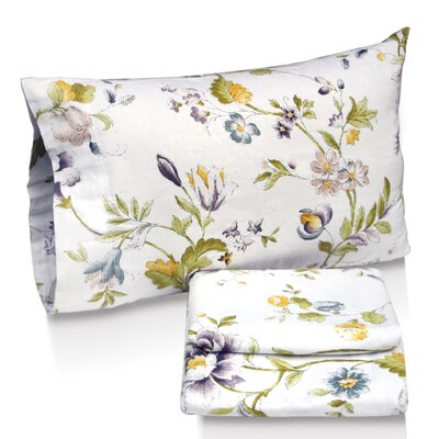 Tribeca Living Flower Park Printed Sheet Set - Size: Queen at Sears.com