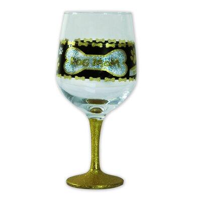 """""""Dog Mom"""" Oversized Wine Glass"""