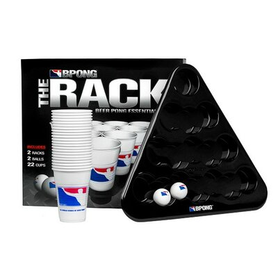 Beer Pong Rack Kit with 22 Cups 2 Balls and 2 Racks Set KITA01