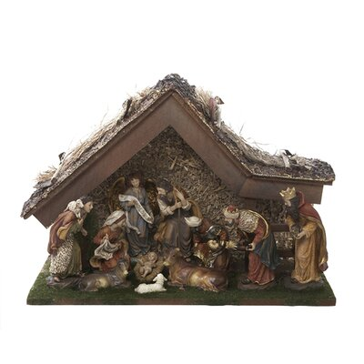 """12"""" Nativity Set with Stable and 10 Figures H3032"""
