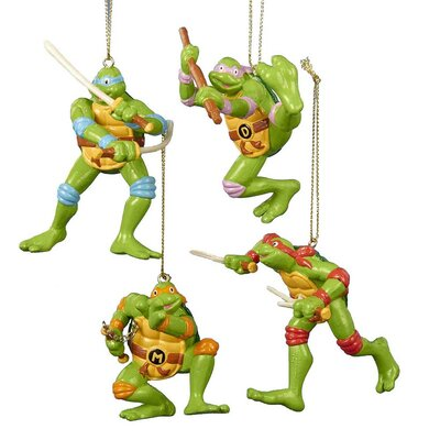 4 Piece Teenage Mutant Ninja Turtles Ornament Set TM1151ST