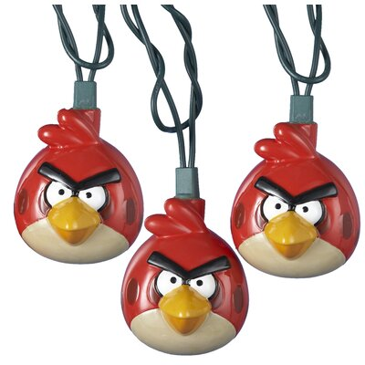UL 10-Light Injection Mould Angry Birds Light Set BD9122
