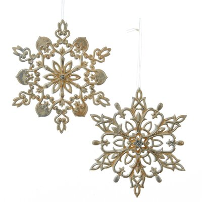 2 Piece Glitter Snowflake Ornament Set T1952