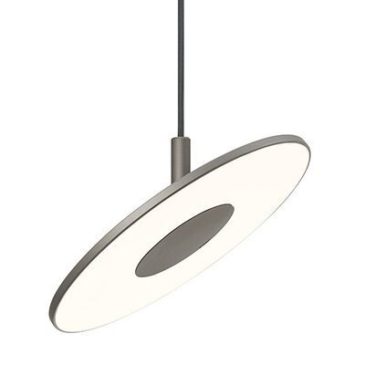 Circa 1-Light Mini Pendant Color: Graphite, Size: Small