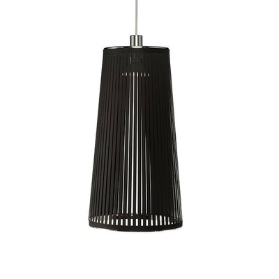 Solis 1-Light Mini Pendant Lamp Size: 24 H x 13 W x 9 D, Color: Black