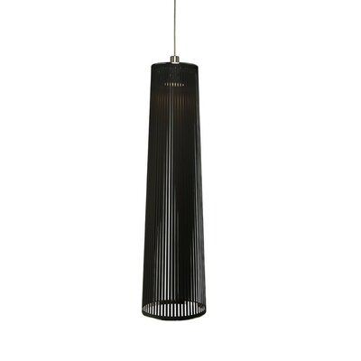 Solis 1-Light Mini Pendant Lamp Size: 48 H x 13 W x 9 D, Color: Black