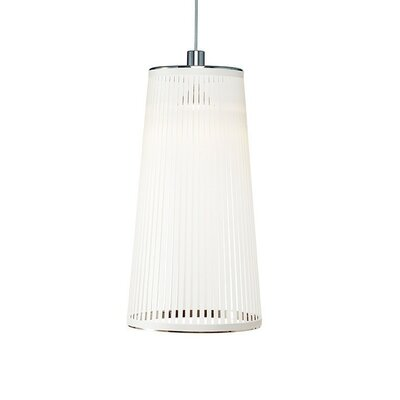 Solis 1-Light Mini Pendant Lamp Size: 24 H x 13 W x 9 D, Color: White
